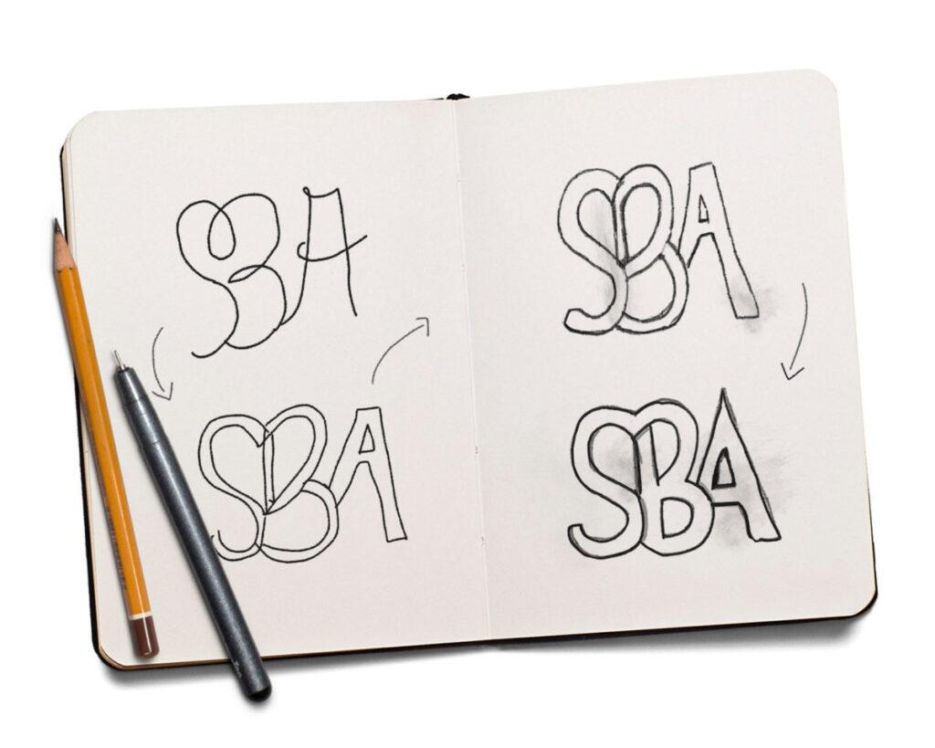 só um logotipo - mockup - sketch