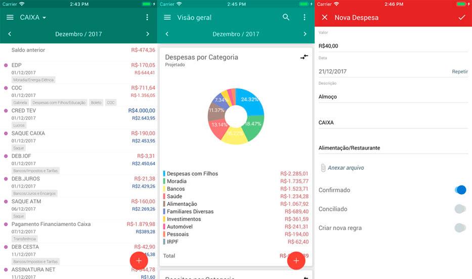 Como organizar as financas de forma pratica utilizando aplicativos de controle financeiro meu dinheiro telas 2